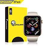 [6 Pack] SPGuard Compatible Apple Watch 4 Series LiQuidSkin Screen Protector[44mm], HD Clear Full Coverage Anti-Bubble Active Protection Films for Apple Watch Case Series 4 (3, 44MM) (Color: 3, Tamaño: 44MM)
