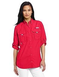 Columbia Women\'s Bahama Long Sleeve Shirt, Small, Bright Rose