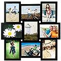 "Malden International Designs Crossroads 3D 10 Opening 3.5x5"" Collage Black Picture Frames"