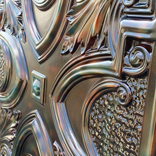 PL11imitation Finition étain vieilli Decor Fancy plafond Panneaux muraux décoration carrelage en relief fond photosgraphie 10pieces/Lot