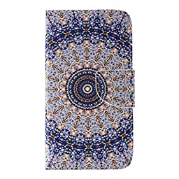 UNEXTATI Galaxy J5, Premium PU Wallet Case + Cover for Samsung Galaxy J5, Slim-Fit Leather Flip Case with Card-Slot, Magnet Closure (P2 Blue)