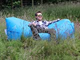 INFLATABLE LOUNGER by Treadway. FREE inner-tube & FREE tent peg. Quality rip-stop, convenient carry bag, fun to use, inflates in seconds, super comfortable hangout/air bag/air chair hammock (blue).