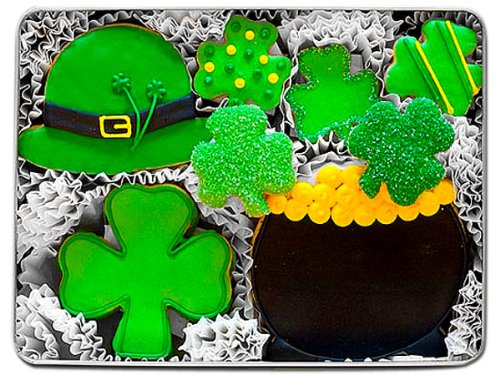 Luck of the Irish Decorated Cookie Gift Tin