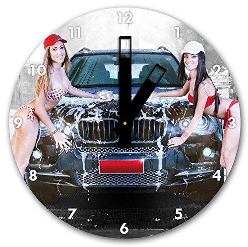 bmw-x5-est-gewaschn-sexy-girls-diametre-horloge-murale-30cm-avec-du-noir-au-carre-les-mains-et-le-vi