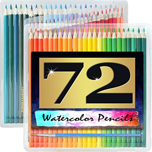 artists-choice-72-pack-watercolor-pencils-with-paintbrush