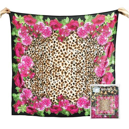 Weegoamigo - Baby Muslin Swaddle Blanket Digital Print - Leopard Floral - 1
