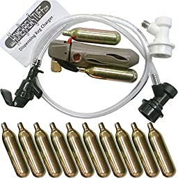 Charger and 12 Cartridges, Picnic Tap, Ball Lock