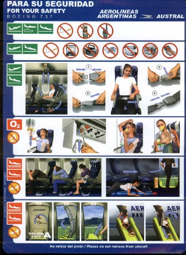 aerolineas-argentinas-austral-airlines-boeing-737-emergency-instructions-card