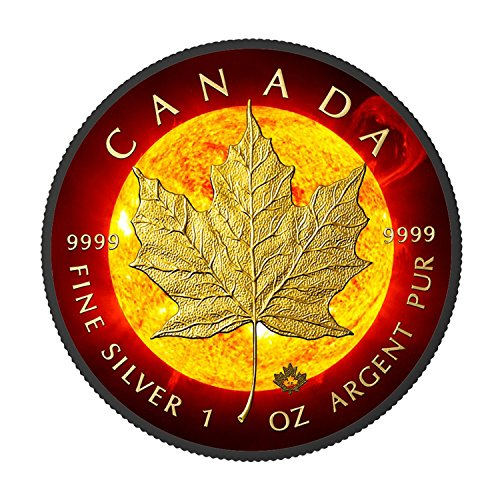 2016 Soalr Flare Canadian Maple Leaf 1oz silver coin