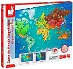 Magnetische Weltkarte - Tiere: Carte...