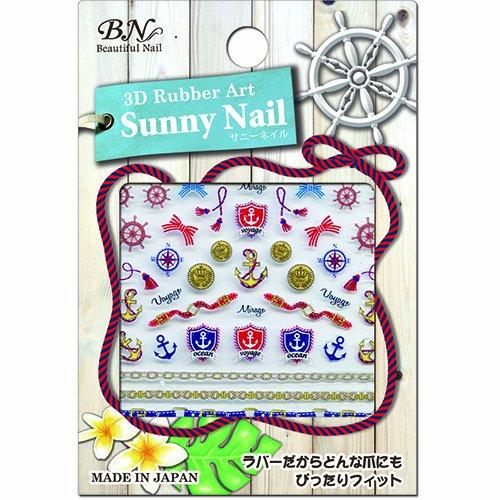 BN サマーネイルシール MSNー01 マリンスカーフ