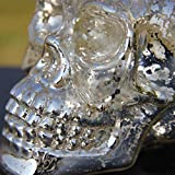 Helen Zora Retro Antique Silver Skeleton Skull Candle Holder Candlesticker Home Table Decor Gift