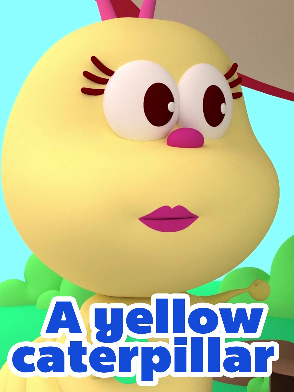 A yellow caterpillar
