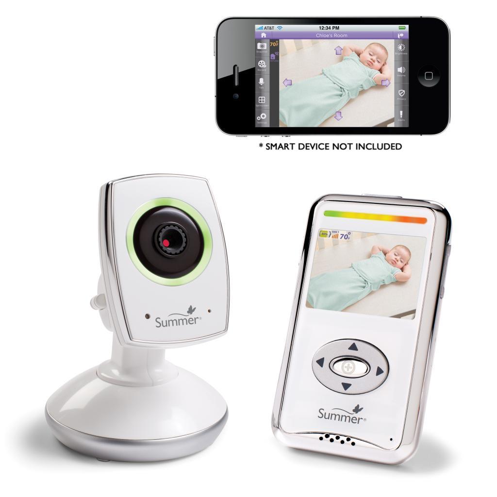 nib summer baby zoom wifi video monitor internet viewing system ebay. Black Bedroom Furniture Sets. Home Design Ideas