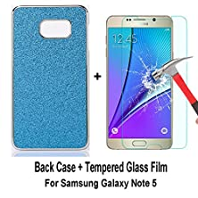 buy Galaxy Note 5 Case, Sophia Shop Thin Ultra Slim Premium Pu Leather+Hard Pc Bumper Anti-Scratch Shockproof Cover For Samsung Galaxy Note 5 (Glitter Blue+Film)