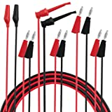 Micsoa Multimeter Leads, Electrical Test Lead Kit - Banana to Alligator, Banana to Banana, Banana to Plounger Mini Hooks Test Leads Set(3 Pair)
