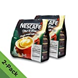 2 PACK - Nescafé 3 in 1 RICH Instant Coffee (50 Sticks TOTAL) ? Made from Premium Quality Beans ? Offers a Relaxing Flavor But with Strong, Solid Essence and Aroma ? Has a Richer Taste than Nescafé 3 in 1 Original ? Serve Hot or Cold ? From Nestlé Malaysia (Tamaño: 2 Packs)