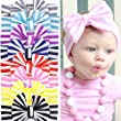 Quest Sweet® 8Pcs Baby Girl Newest Turban Headband Girl\'s Soft Headbands with Bows