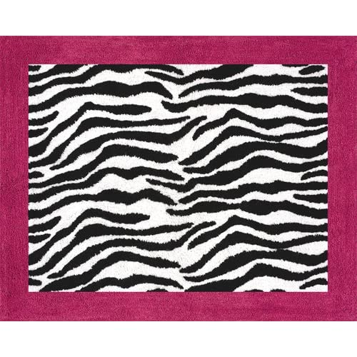 Funky Zebra Accent Floor Rug by Sweet Jojo Designs