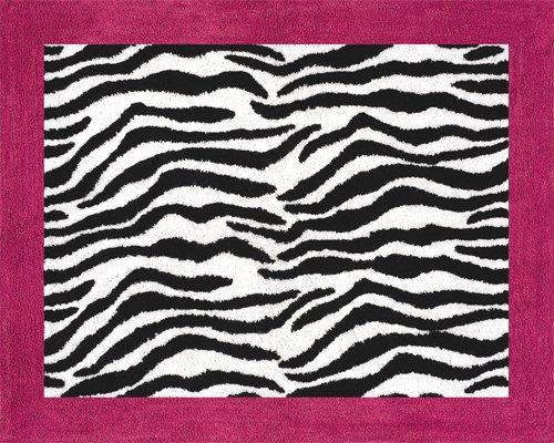Zebra Hot Pink Bedding front-185501