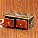 Cultural Concepts Handpainted 2 Drawer Box