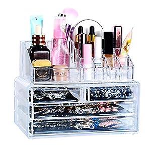 1 set presentoir tiroir boite rangement cosmetique - Rangement maquillage tiroir ...