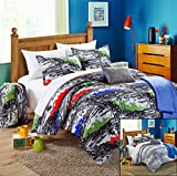 Chic Home 8-Piece Hero Comforter Set with Shams Decorative Pillows and Sheet Set Twin