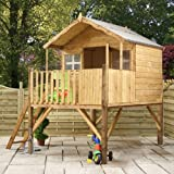 8ft x 7ft Wooden Honeysuckle Tower Playhouse - Brand New 8x7 Wood Cottage Playhouses