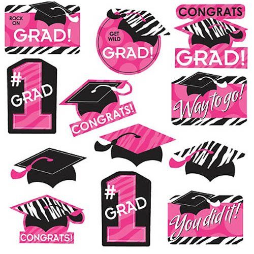 Zebra Graduation Cut Outs