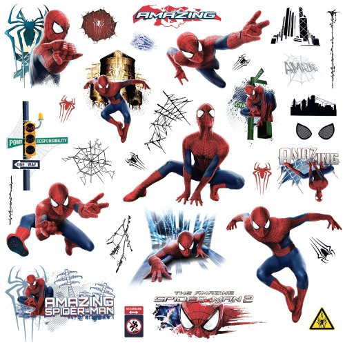 32 new classic marvel heroes wall decals avengers stickers for Avengers wall mural amazon