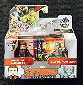 Marvel Avengers Age of Ultron Winter Ops Hawkeye and Sub-Ultron Minimates Action Figures 2 Pack