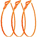 Vastar 3 Pack 23.6 Inch Drain Snake Hair Drain Clog Remover Cleaning Tool