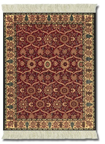 Lextra (Shah Jahan), Mouse Rug, Burgundy/Tan/Black/Light Blue, 10.25 x 7.125 Inches, One (MSJ-1)