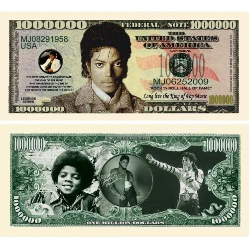 Michael Jackson King of Pop Million Dollar Bill