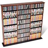 Prepac Cherry Triple Width Wall Media (DVD,CD,Games) Storage Rack