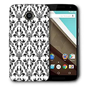 Snoogg Grey Pattern Printed Protective Phone Back Case Cover For LG Google Nexus 6