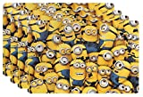Zak! Designs Placemat with Minions from Despicable Me 2, Set of 4, BPA-free Plastic