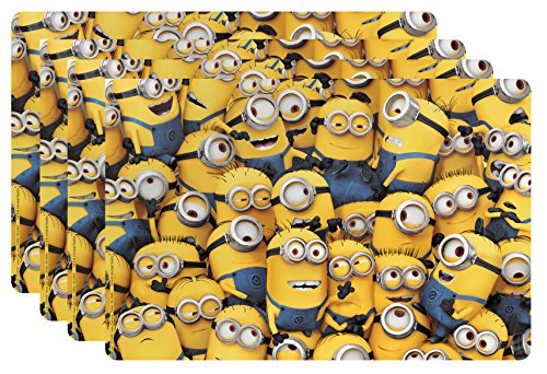 Zak! Designs Placemat with Minions from Despicable Me 2, Set of 4, BPA-free Plastic - 1
