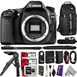 Canon EOS 80D DSLR Camera Body w Advanced Photo and Travel Bundle