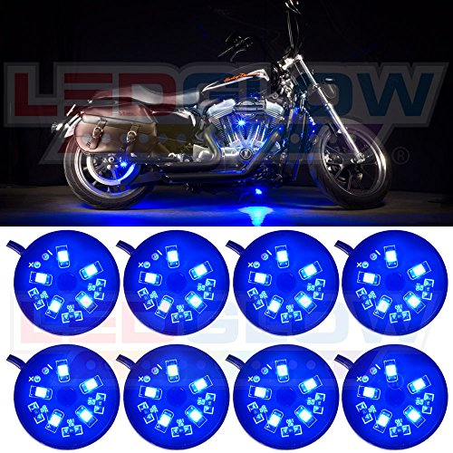 8Pc. Blue Led Pod Lighting Kit