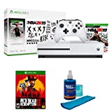 Microsoft Xbox One S 1TB Console, bundled with NBA 2K19 Edition with Red Dead Redemption 2 (Color: white)