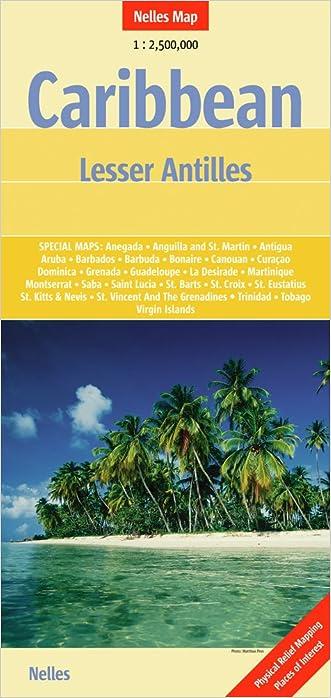 Caribbean Lesser Antilles Nelle 1:2.5M