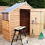 3x6 Overlap Wooden Shed ♦ Window ♦ Single Door ♦ Apex Roof
