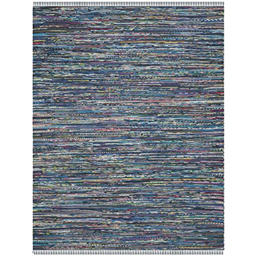 Safavieh Rag Rug Collection RAR121C Handmade Ink and Multicolored Cotton Area Rug, 5 feet by 8 feet (5' x 8')