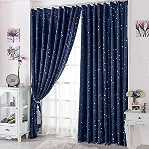Curtain for 100 blackout cortinas para sala for living room flat window curtains - Amazon curtains living room ...