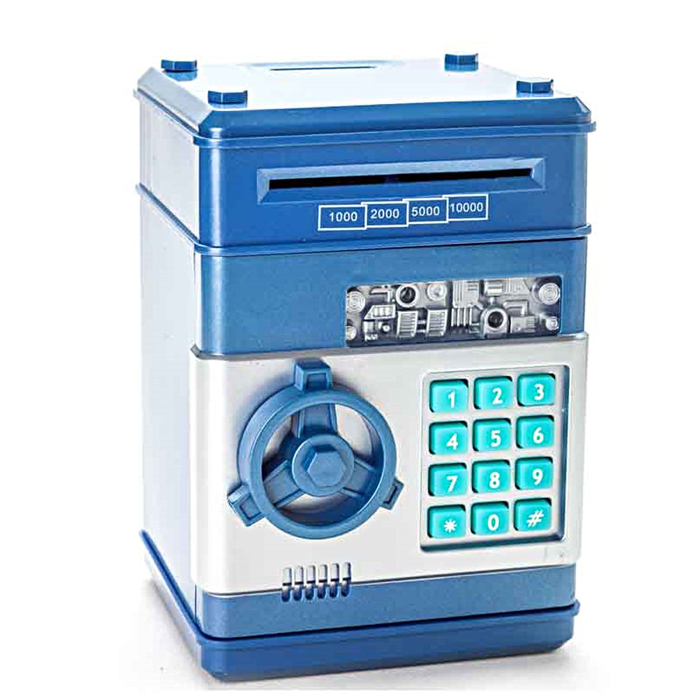 Vandesail New Style Money Saving Box Cash Coin Can Safe ATM Bank Novelty Tin Birthday Gift