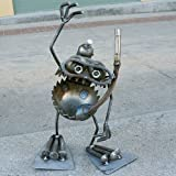 Welded Metal Art Gnome Be Gone Standing Scuba Diver