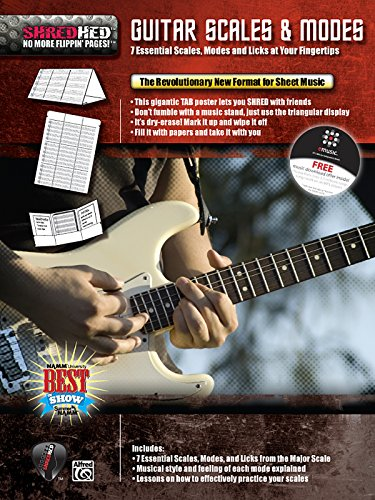 Guitar Scales & Modes: 7 Essential Scales, Modes, and Licks at Your Fingertips, Poster / Folder / Triangular Display (Shredhed)