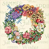 Gold Collection Wreath Of All Seasons Counted Cross Stitch K-14''X14'' 18 Count
