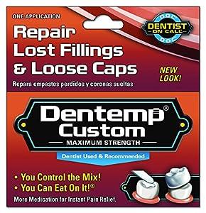 Dentemp Custom Repairs Both Loose Caps And Lost Fillings (Pack of 6 )